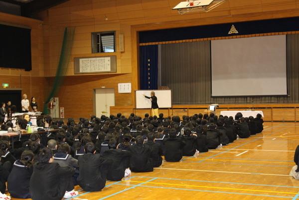 社会人講話in野間中学校